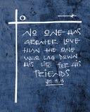 Религиозная христианская иллюстрация чернил фразы Стоковая Фотография RF
