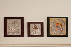 Религиозное иконическое произведение искусства Стоковые Фотографии RF