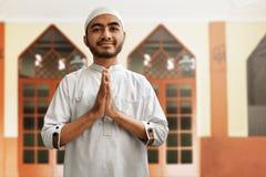 Религиозное мусульманское выражение улыбки человека Стоковые Фото