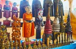 Религиозные сувениры, рынок деревни Indein, озеро Inle, Мьянма Стоковое Фото