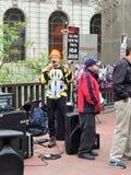 Религиозный проповедник на мостоваой Стоковое Фото