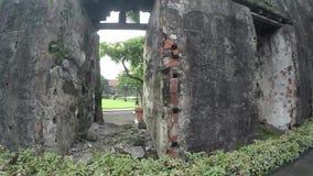 Реликвии и обмылки города XVI века Intramuros огороженные сток-видео