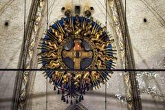 Реликвия страсти Иисуса Христоса в соборе милана, Италии стоковые изображения