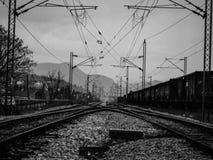 Рельсы поезда Стоковое Фото