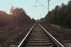 Рельс поезда Стоковая Фотография
