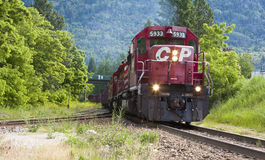 рельс тепловозного паровоза cp Стоковое Изображение