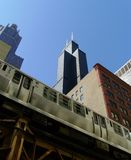 рельс chicago el Стоковые Фото