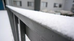 Рельс Snowy Стоковое Изображение