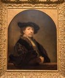 Рембрандт ван Рейн, автопортрет Стоковая Фотография RF