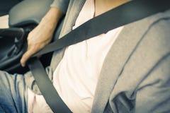 Ремень безопасности в автомобиле Стоковые Фото