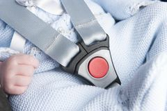 Ремень безопасности младенца стоковое изображение rf