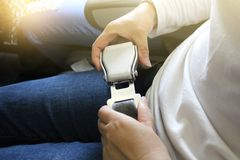 Ремень безопасности самолета Стоковые Фотографии RF