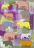 Ремесла иллюстрации вектора с коровами Стоковое Фото