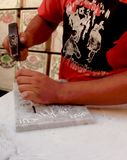 Ремесленник Fez стоковое изображение