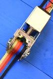 Ремни храповика для контроля за грузом груза Стоковые Изображения RF