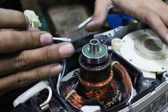 Ремонтировать електричюеского инструмента Стоковое Изображение RF