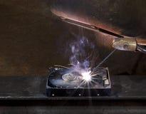 ремонтировать диска дефекта трудный Стоковые Фото