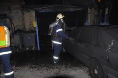 Ремонтная мастерская ремонта автомобилей огня Стоковые Изображения RF