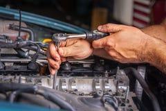 Ремонтная мастерская ремонта автомобилей Стоковое Изображение RF