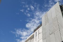 Ремонтные работы изображения ремонта большого диапазона здания Стоковая Фотография