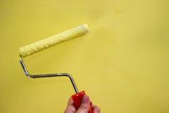 Ремонты в квартире Аксессуары для краски Уточнение интерьера Стоковые Фотографии RF