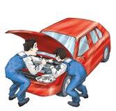 Ремонт автомобилей иллюстрация штока