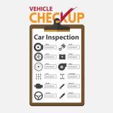 Ремонт автомобиля infographic в плоском дизайне Доска сзажимом для бумаги проверки Стоковые Фотографии RF