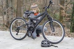 Ремонт велосипеда Стоковая Фотография