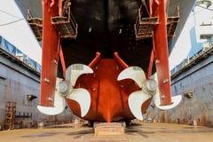 Ремонт военного корабля Стоковое Изображение