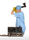 ремонт двигателя автомобиля Стоковые Изображения RF