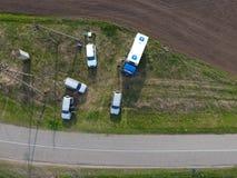 Ремонт раздела газопровода пропуская через водяной канал Отремонтируйте работу Стоковые Фото