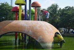 Ремонт сада и картина грибов Стоковое Изображение