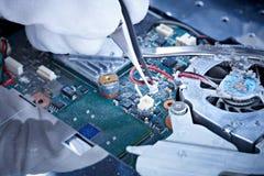 ремонт тетради вентилятора Стоковая Фотография RF