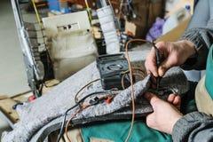 Ремонт топления автокресла Стоковое фото RF