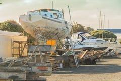 Ремонт шлюпок, Окленд, Новая Зеландия Стоковое Изображение RF
