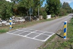 Рему дороги как ограничение скорости стоковая фотография rf