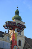 Ренджер Kamikaze в парке атракционов на CibinFest Стоковая Фотография