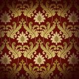 ренессанс предпосылки декоративный красный Стоковое Изображение RF