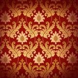 ренессанс предпосылки декоративный красный Стоковая Фотография