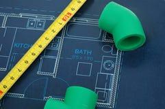 реновация ванной комнаты Стоковые Изображения