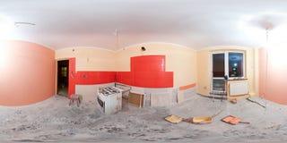 реновация панорамы кухни стоковые изображения