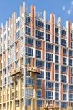 Реновация стены выхода по энергии для энергосберегающего Внешняя изоляция жары стены дома с минеральными шерстями стоковые изображения