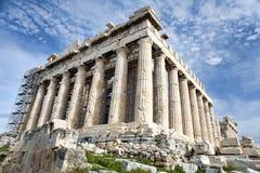 реновация parthenon athens стоковое фото