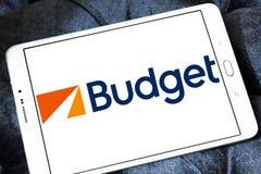 Рента бюджета логотип системы автомобиля Стоковое Изображение