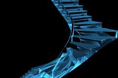 рентгеновский снимок голубой лестницы 3d прозрачный Стоковые Изображения RF