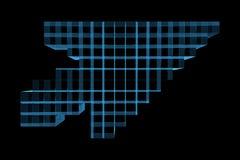 рентгеновский снимок голубой мыши стрелки 3d прозрачный Стоковые Фотографии RF