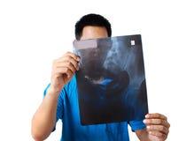 рентгеновский снимок доктора стоковое фото rf