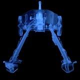 Рентгеновский снимок карамболя артиллерии Стоковое Изображение RF