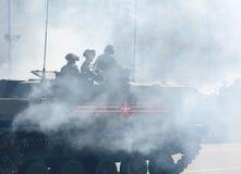 Репетиция парада дня победы в Москве Стоковое Фото