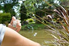 Репеллент москита на озере Стоковое Фото